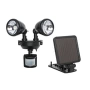 Maxsa Solar-Powered Dual Head LED Security Spotlight; Black