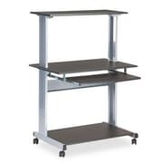 Mayline Mobile Multimedia Workstation 36.75'' W x 21.25'' D Computer Table; Anthracite
