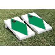 Victory Tailgate Diamond Matching Version 1 Cornhole Boards Game Set; White / Light Green