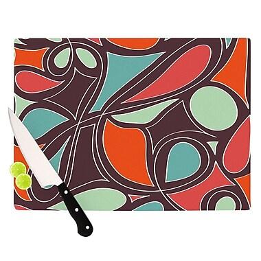 KESS InHouse Retro Swirl Cutting Board; 8.25'' H x 11.5'' W x 0.25'' D
