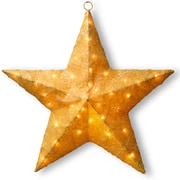 National Tree Co. Decorative D cor Sisal Star Christmas Decoration; Gold