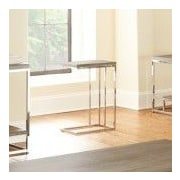 Steve Silver Furniture Lucia End Table; Grey / Brown