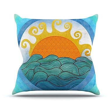 KESS InHouse Happy Day Throw Pillow; 26'' H x 26'' W