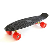 Wasatch Imports Boss Board Complete Vintage Skateboard; Revolution (Black Deck with Red Wheels)