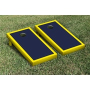 Victory Tailgate Border Matching Version 1 Cornhole Boards Game Set; Bright Yellow / Navy Blue