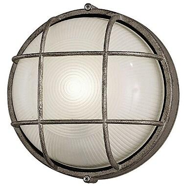 Philips Onyx 1 Light Outdoor Bulkhead Light; Silver Rust