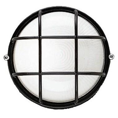 Philips Onyx 1 Light Outdoor Bulkhead Light; Black