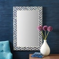 Twos Company Chevron Bone Wall Mirror