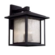 TransGlobe Lighting Patio Window 3 Light Outdoor Wall Lantern; Weathered Bronze