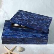 Twos Company 2 Piece Bone-Tiled Box Set