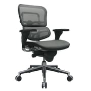 Eurotech Seating Ergohuman Mid-Back Mesh Chair with Arms; Gray