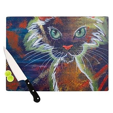 KESS InHouse Rave Kitty Cutting Board; 8.25'' H x 11.5'' W x 0.25'' D