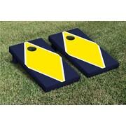 Victory Tailgate Diamond Matching Version 2 Cornhole Boards Game Set; Bright Yellow / Navy Blue