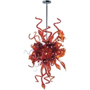 Maxim Lighting Mimi LED 6-Light Pendant; Root Beer