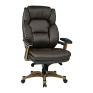 Office Star Work Smart Executive Chair; Espresso/Cocoa
