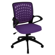 Z-Line Designs Mid-Back Task Chair with Arms; Purple