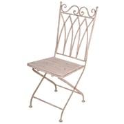 EsschertDesign Aged Metal Folding Dining Side Chair