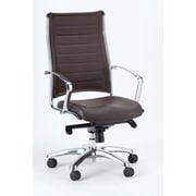 Eurotech Seating Europa Leather Executive Chair; Brown