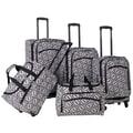 American Flyer Brick Wall 5 Piece Luggage Set