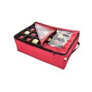 TreeKeeper Santa's Bags Premium Christmas Ornament Storage Bag with 2 Trays