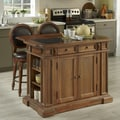 Home Styles Americana Vintage Kitchen Island Set with Granite Top