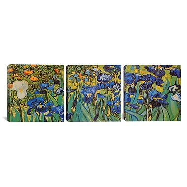iCanvas Irises by Vincent van Gogh 3 Piece Painting Print on Wrapped Canvas Set
