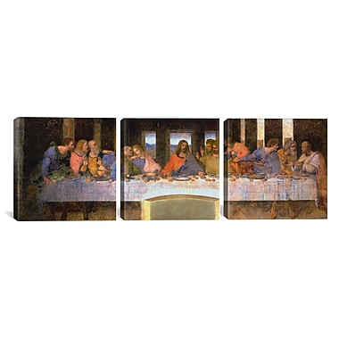 iCanvas The Last Supper by Leonardo da Vinci 3 PiecePainting Print on Wrapped Canvas Set