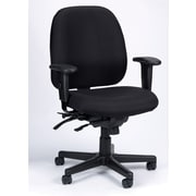 Eurotech Seating 4x4 SL Chair with Seat Slider; Black