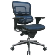 Eurotech Seating Ergohuman Mid-Back Mesh Chair with Arms; Blue