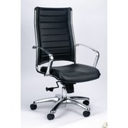 Eurotech Seating Europa Leather Executive Chair; Black