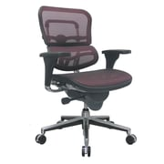 Eurotech Seating Ergohuman Mid-Back Mesh Chair with Arms; Red