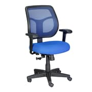 Eurotech Seating Apollo Mid-Back Mesh Swivel Chair with Arms; Blue