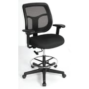 Eurotech Seating Apollo Mesh Drafting Stool with Arms