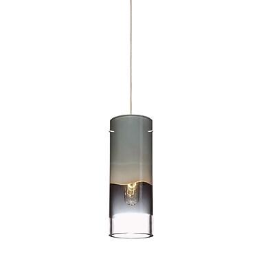Philips 3.63'' Crete Glass Cylindrical Pendant Shade; Smoke