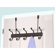 Home Basics 5 Hook over the Door Coat Rack