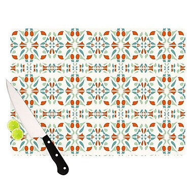 KESS InHouse Italian Kitchen Orange Cutting Board; 11.5'' H x 15.75'' W x 0.15'' D