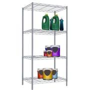 Home Basics Wire 46.5'' H Four Shelf Shelving Unit; Grey