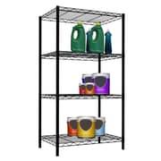 Home Basics Wire 46.5'' H Four Shelf Shelving Unit; Black