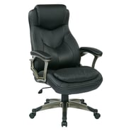 Office Star Work Smart Executive Chair with Padded Arms; Black/Titanium