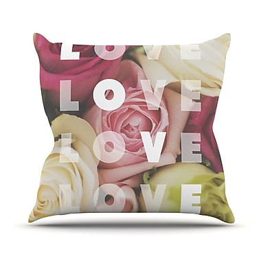 KESS InHouse Love Love Love Throw Pillow; 26'' H x 26'' W
