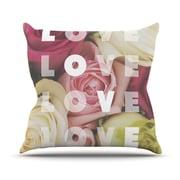 KESS InHouse Love Love Love Throw Pillow; 20'' H x 20'' W