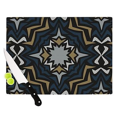 KESS InHouse Winter Fractals Cutting Board; 11.5'' H x 15.75'' W x 0.15'' D
