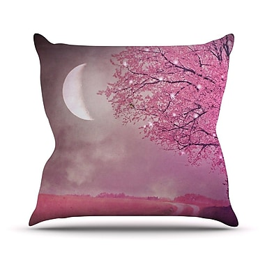 KESS InHouse Song of The Springbird Throw Pillow; 16'' H x 16'' W