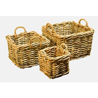 Kenian 3 Piece Bali Square Basket Set