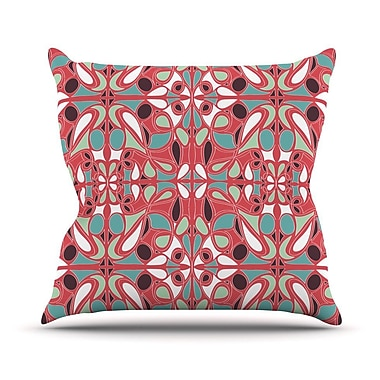 KESS InHouse Stained Glass Throw Pillow; 18'' H x 18'' W