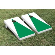 Victory Tailgate Matching No Stripe Version 1 Cornhole Boards Game Set; White / Light Green