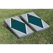 Victory Tailgate Diamond Matching Version 1 Cornhole Boards Game Set; Gray / Midnight Green