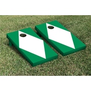 Victory Tailgate Diamond Matching No Stripe Version 2 Cornhole Boards Game Set; White / Light Green