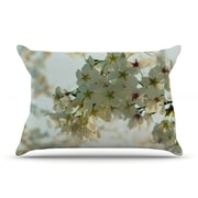 KESS InHouse Cherry Blossoms Pillow Case; Standard