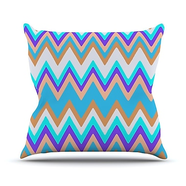 KESS InHouse Girly Surf Chevron Throw Pillow; 18'' H x 18'' W